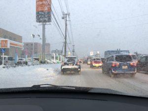 北海道の凍結路面